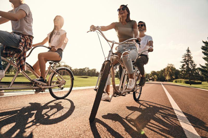 Тандем — велосипед для семейных людей | сайт котовского